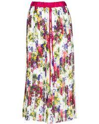 279e21085 Dolce & Gabbana Margherite-print And Rose-jacquard Skirt in Black - Lyst