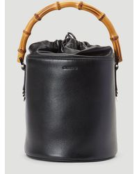 Jil Sander Bamboo Handle Bucket Bag - Black