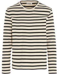 Jil Sander Striped T-shirt - Grey