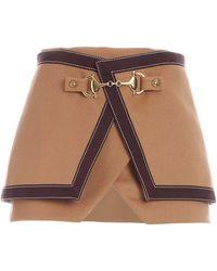 Balmain Golden Details Skirt - Brown