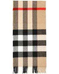 Burberry Half Mega Check Cashmere Scarf - Multicolour