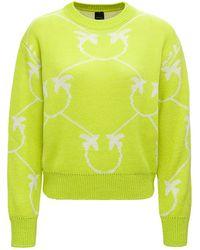 Pinko Abbey Jumper In Alpaca Blend - Green