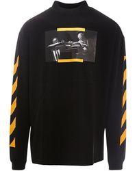Off-White c/o Virgil Abloh Cotton Sweatshirt - Black