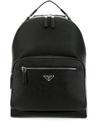 Prada Saffiano Leather Backpack - Black