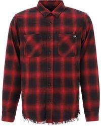 Amiri Core Shadow Plaid Shirt - Red