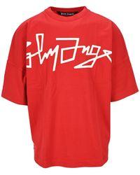 Palm Angels Desert Logo T-shirt Red