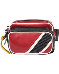Givenchy Men's Leather Belt Bum Bag Hip Pouch - Red