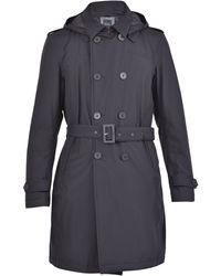 Herno Double Breasted Belted Trench Coat - Black