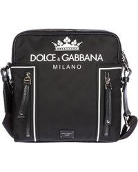 618ff80aff Dolce & Gabbana Patch Appliqué Belt Bag in Black for Men - Lyst