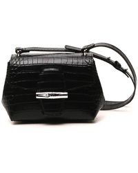 Longchamp Roseau Small Crossbody Bag - Black