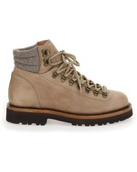 Brunello Cucinelli Lace Up Hiking Boots - Brown