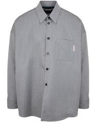 Marni Wool And Cotton Shirt - Gray