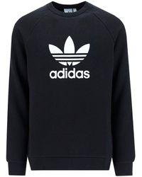 adidas Originals Trefoil Warm-up Crewneck Sweatshirt - Black