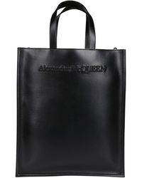 Alexander McQueen North South Tote Bag - Black