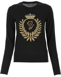 Dolce & Gabbana Intarsia Crewneck Jumper - Black