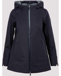 Herno Black Laminar Parka Short Jacket - Blue