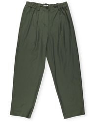 KENZO Tailored Cropped Trousers - Green