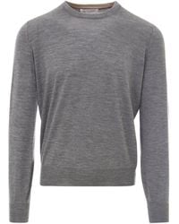 Brunello Cucinelli Crew Neck Knit Sweater - Grey
