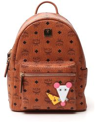 MCM Rat Stark Backpack - Brown