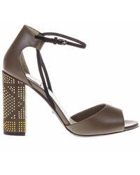 Dior - Studded Heel Sandals - Lyst