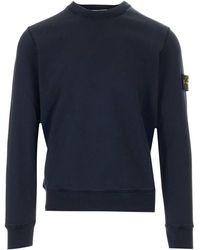 Stone Island Crewneck Sweatshirt - Blue
