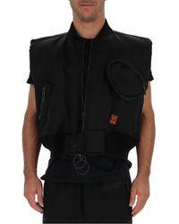 Off-White c/o Virgil Abloh Cropped Arrow Logo Vest - Black