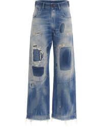 Maison Margiela Distressed Baggy Jeans - Blue