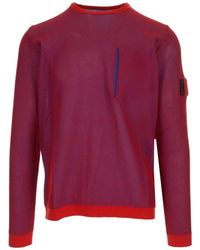 Stone Island Shadow Project Mesh Crewneck Sweatshirt - Red