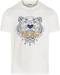 KENZO Tiger Crewneck T-shirt - White
