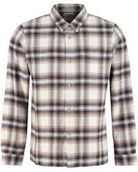 John Elliott Checked Pocket Patch Shirt - Multicolour