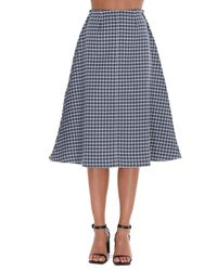 JW Anderson Checked A-line Skirt - Blue