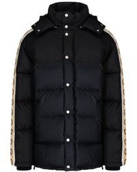 Gucci GG Jacquard Padded Coat - Black