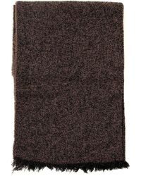 Rick Owens Frayed Knit Scarf - Brown
