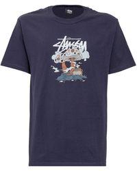 Stussy Graphic Printed T-shirt - Blue