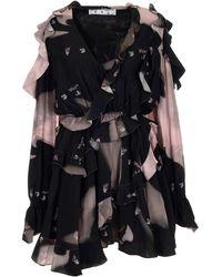 Off-White c/o Virgil Abloh Ruffled Printed Mini Dress - Black