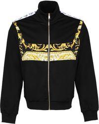 Versace Barocco Logo Print Jacket - Black