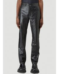 Marine Serre Moon Allover Leather Trousers - Black