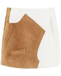Marni Bi-material Mini Skirt - Multicolour