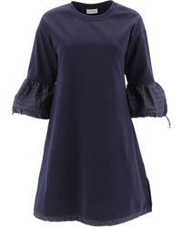 Moncler Flare Sleeve Dress - Blue