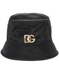 Dolce & Gabbana Logo Plaque Bucket Hat - Black