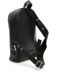 Bally Trainspotting Hari Leather Backpack - Black