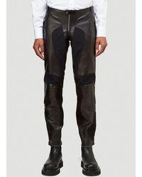Alexander McQueen Leather Pants - Black