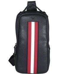 Bally Malikho Striped Shoulder Bag - Black
