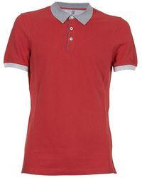 Brunello Cucinelli - Contrasting Trim Polo Shirt - Lyst