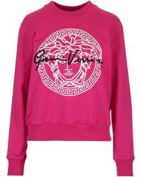 Versace Medusa Logo Print Sweatshirt - Pink