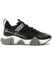 Versace Squalo Knit Trainers - Black