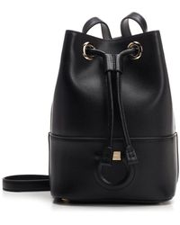 Ferragamo - Drawstring Bucket Bag - Lyst