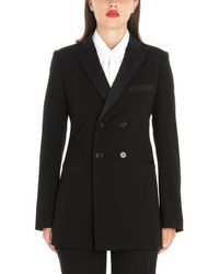 RED Valentino Double-breasted Dinner Blazer - Black