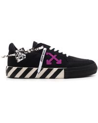 Off-White c/o Virgil Abloh Low Vulcanized Sneakers - Black