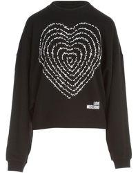 Love Moschino Logo Crewneck Sweatshirt - Black